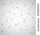 clutter of line network on gray ...   Shutterstock .eps vector #395085544