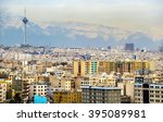view of tehran from the azadi... | Shutterstock . vector #395089981