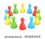 board game pieces. scene made... | Shutterstock . vector #395094955