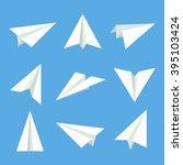 Handmade Paper Plane Vector Se...