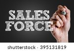 Small photo of Hand writing the text: Sales Force