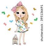 girl | Shutterstock .eps vector #395136691