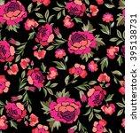 rosie pink spanish floral print ... | Shutterstock .eps vector #395138731