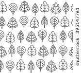 seamless pattern with outline... | Shutterstock .eps vector #395147761