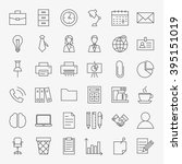 business office life line art... | Shutterstock .eps vector #395151019