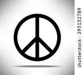 black peace symbol on white... | Shutterstock .eps vector #395152789