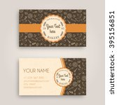 vector business card design... | Shutterstock .eps vector #395156851