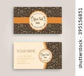 vector business card design... | Shutterstock .eps vector #395156851