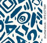 hand drawn seamless ink pattern ... | Shutterstock .eps vector #395157589