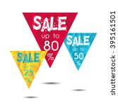 sale up to 25   50   80 .set of ... | Shutterstock .eps vector #395161501