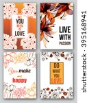 set of inspirational posters.... | Shutterstock .eps vector #395168941