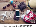 tourism planning and equipment... | Shutterstock . vector #395174755