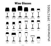 wine glass silhouettes vector... | Shutterstock .eps vector #395175001