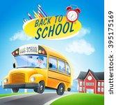 school bus banner | Shutterstock .eps vector #395175169