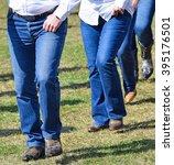 western dancers are dancing... | Shutterstock . vector #395176501