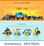 offroad one page design with... | Shutterstock .eps vector #395178241
