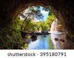 waterfall cave  haewsuwat...   Shutterstock . vector #395180791