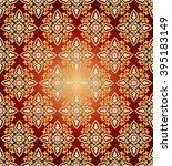 colorful antique ottoman... | Shutterstock .eps vector #395183149