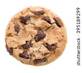 chocolate chip cookie isolated... | Shutterstock . vector #395189299
