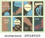 set of  modern hipster trendy ... | Shutterstock . vector #395189335