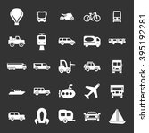 transport icon set | Shutterstock .eps vector #395192281