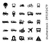 transport icon set | Shutterstock .eps vector #395192479
