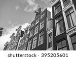 holland  amsterdam  the facade... | Shutterstock . vector #395205601