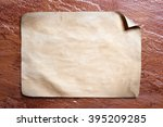 old paper on stone background. | Shutterstock . vector #395209285