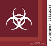 biohazard symbol vector sign...   Shutterstock .eps vector #395216365