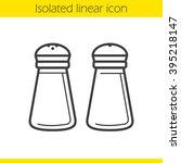 salt and pepper shakers linear... | Shutterstock .eps vector #395218147