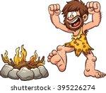 cartoon caveman discovering...   Shutterstock .eps vector #395226274