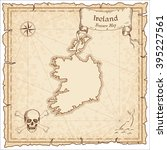 old pirate map of ireland.... | Shutterstock .eps vector #395227561