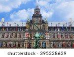 town hall antwerp | Shutterstock . vector #395228629