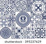 vector tiles. moroccan tiles...   Shutterstock .eps vector #395237629