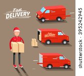 delivery concept. fast delivery ... | Shutterstock .eps vector #395242945