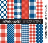 patriotic buffalo check plaid   ... | Shutterstock .eps vector #395248021