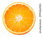 orange fruit. round slice... | Shutterstock . vector #395266504