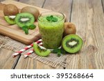 Healthy Fresh Kiwi Smoothie In...