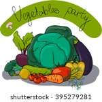 cartoon vegetables set | Shutterstock .eps vector #395279281