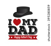 isolated hat and text with a... | Shutterstock .eps vector #395280859