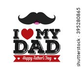 isolated mustache and text with ... | Shutterstock .eps vector #395280865