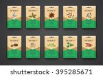 template a set of bags with... | Shutterstock .eps vector #395285671