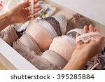 Woman choosing lingerie....