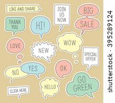 sticker speech bubbles  ... | Shutterstock .eps vector #395289124