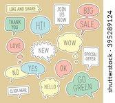 sticker speech bubbles  ... | Shutterstock .eps vector #395289124
