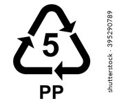 plastic recycling symbol pp 5   ... | Shutterstock .eps vector #395290789