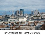 panorama of paris. view from... | Shutterstock . vector #395291401