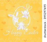 Three Cute White Easter Little...