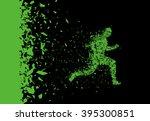 vector sprinter. breakthrough.... | Shutterstock .eps vector #395300851