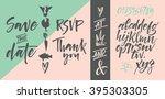 vector alphabet. hand drawn... | Shutterstock .eps vector #395303305